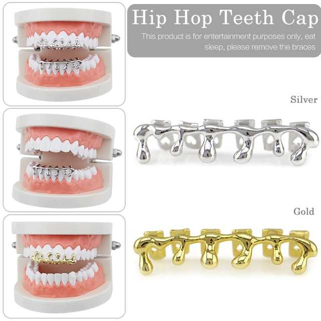 US $3 11 35% OFF|New Custom Fit Gold Teeth Hiphop Teeth Drip Dental  Top&Bottom Tooth Caps Jewelry Party Wholesale Jewelry-in Body Jewelry from  Jewelry