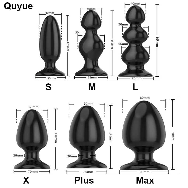 Quyue 6 Types Dilatador Anal beads Silicone butt plug Gay sextoy Adult sex toys for men / woman Prostata massage Buttplug Dildo