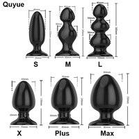 Quyue 6 типов силиконовый анальная пробка большая фалоимитатор для женщин анальные пробки массажер простаты для мужчин анальный расширитель ...