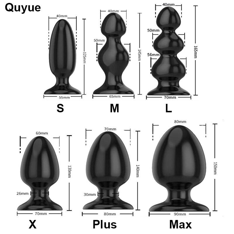 Quyue 6 Tipos Dilatador Anal beads butt plug Silicone Gay sextoy Adult sex toys for men/mulher Prostata massagem plug anal Dildo