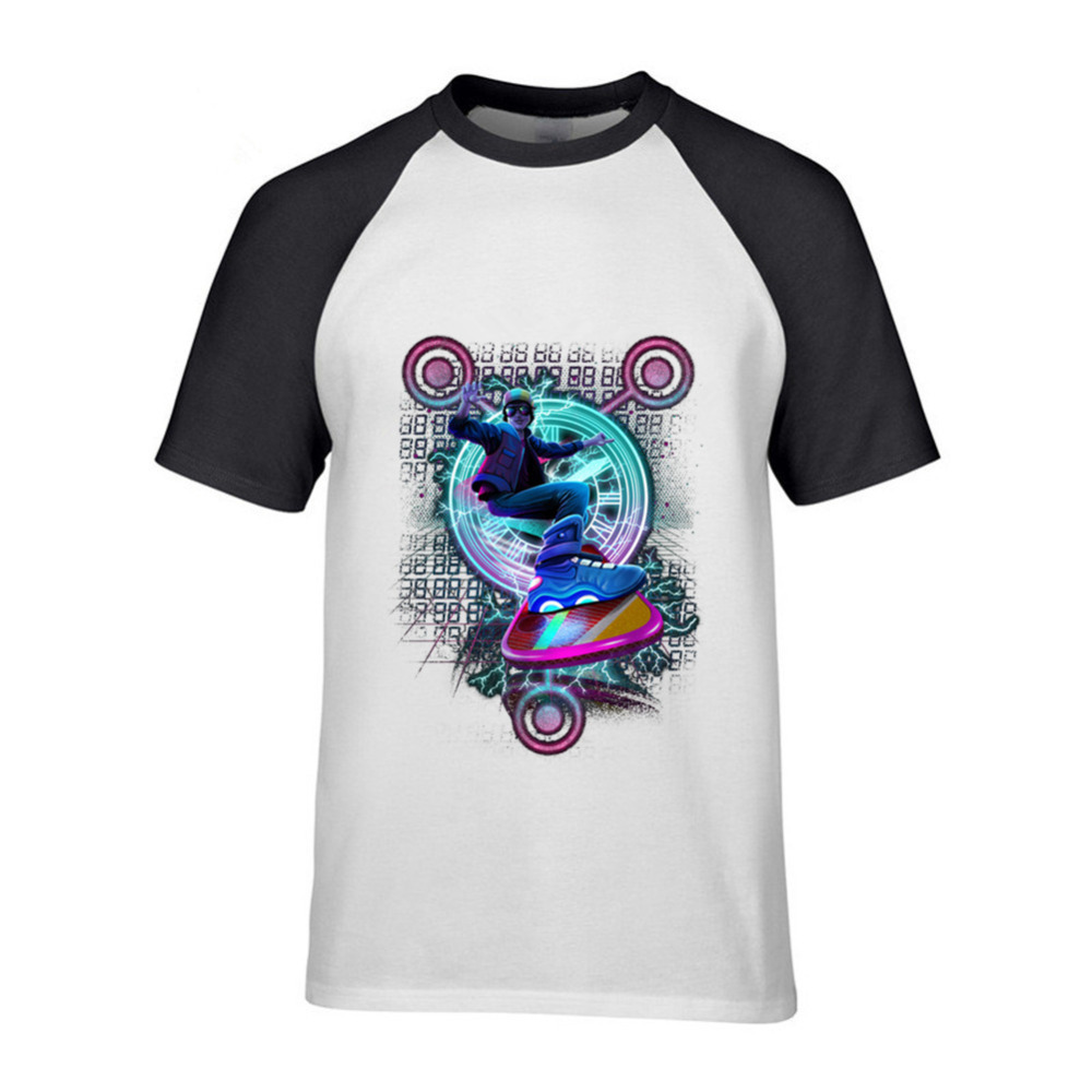 2018 Brand Tshirt Homme Tees Back to the Future Hill Valley Hoverboard Company Navy Adult T-shirt Cotton Low Price Top Tee