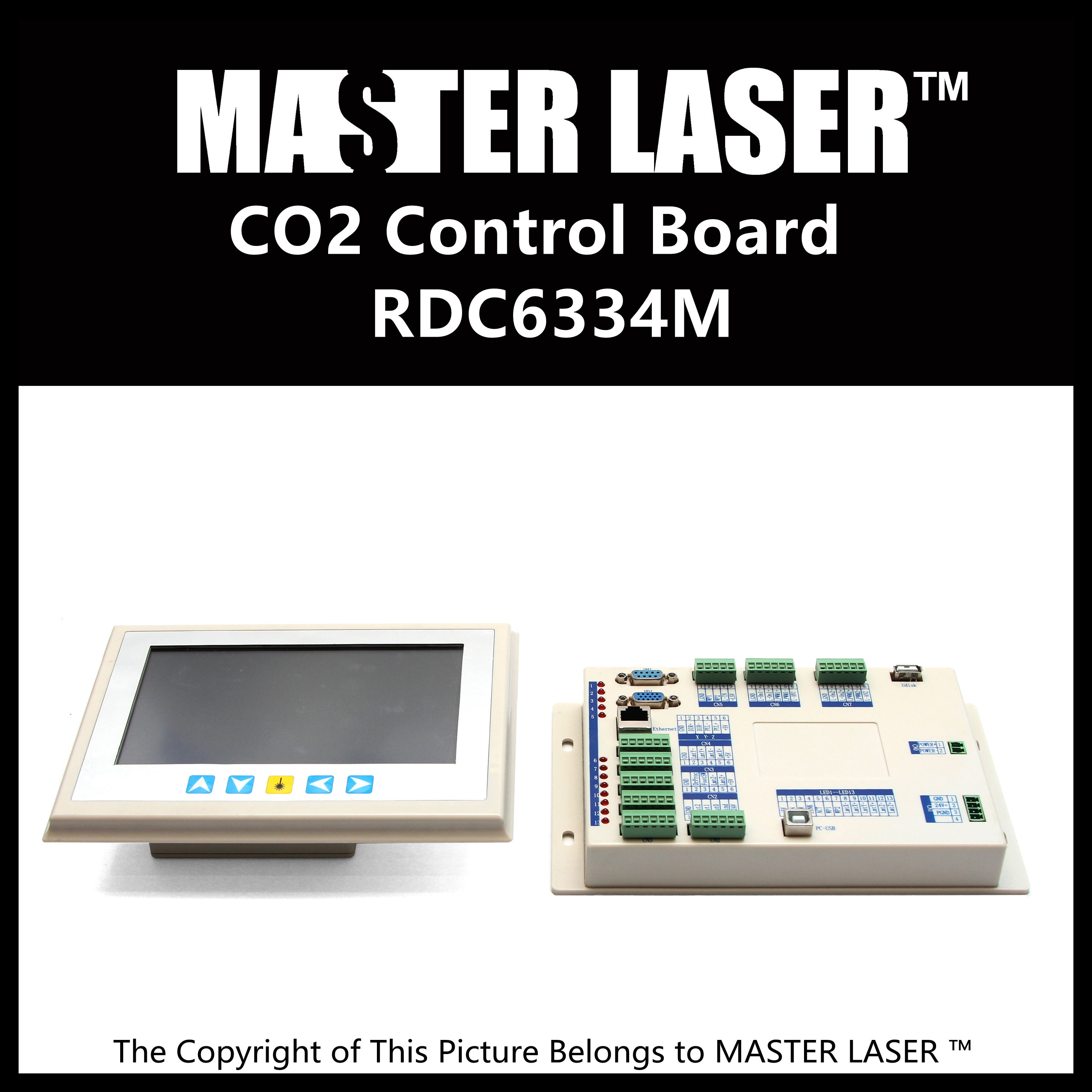 Colorful Display New Generation Metal Cutting Touch Panel of RDC6334M Laser Cut Control  CO2 DSP Laser Control Controller colorful display laser engraving cutting control system awc708c lite laser control main board wholesale for co2 laser parts