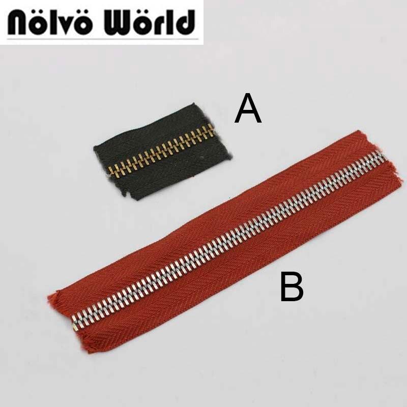 15Yards 63 Colors 8# Metal Teeth Zipper,No.8 Golden Teeth Zips For DIY Bags,pants Sewing,2 Shapes Zipper Teeth)