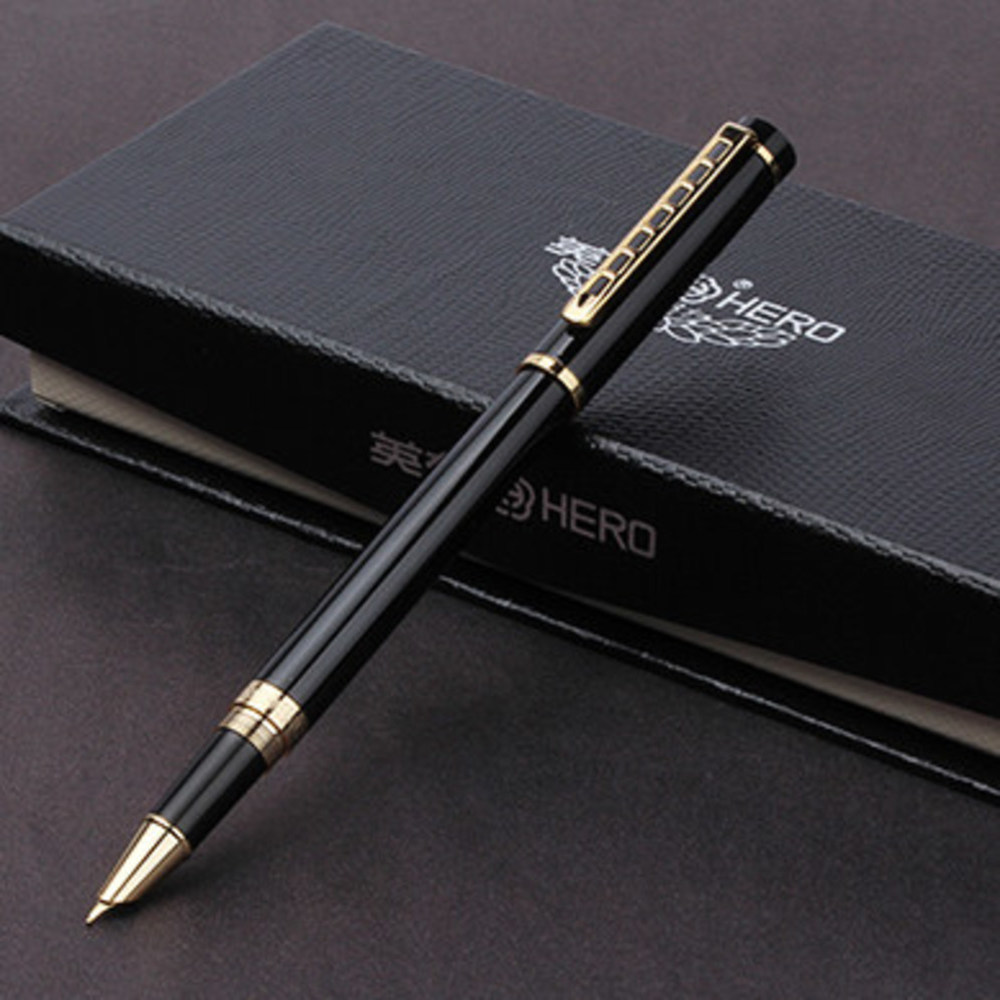 Hero Man Luxury Gift fountain ink Pen nib Box Business High Quality Stationery Office School pens pencils Writing Supplies art fountain pen curved nib or straight nib to choose hero 6055 office and school calligraphy art pens free shipping