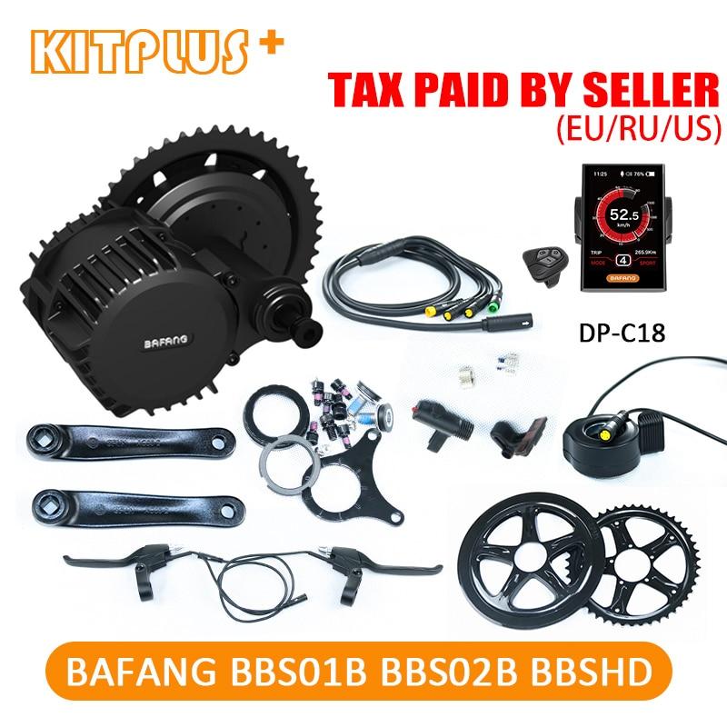 Moteur bafang 36 V 250 W 350 W 500 W 48 V 750 W 1000 W BBS01 BBS02 BBSHD BBS03 moteur électrique bricolage Ebike Kit vélo électrique Kit de Conversion