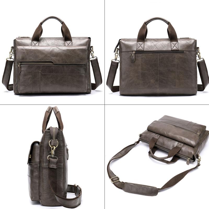 MVA men's briefcase Genuine Leather laptop bag men's leather bag office bags for men laptop briefcase lawyer men bags 8615