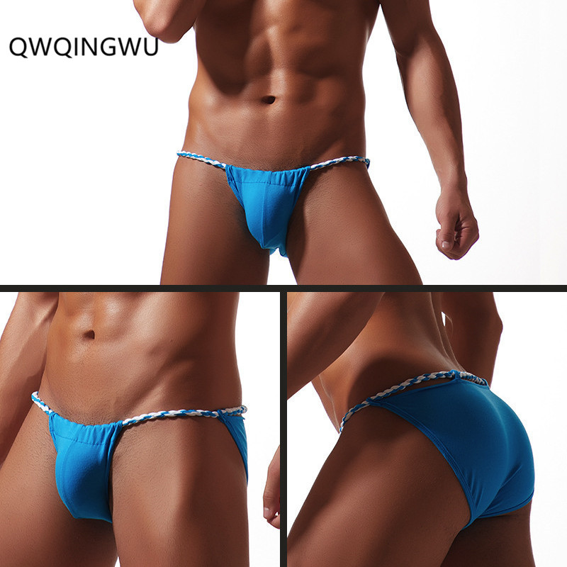 Sexy Underwear Men's Japan Sumo Game Briefs Underwear Nightwear Black Clubwear Costume Underpants Shorts Pants Rope Briefs