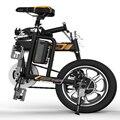 Versão preta híbrido alimentado smart e-bicicleta com aplicativo gratuito para falha auto-Diagnóstico & Dados de Leitura & Grande Quilometragem até 100 km