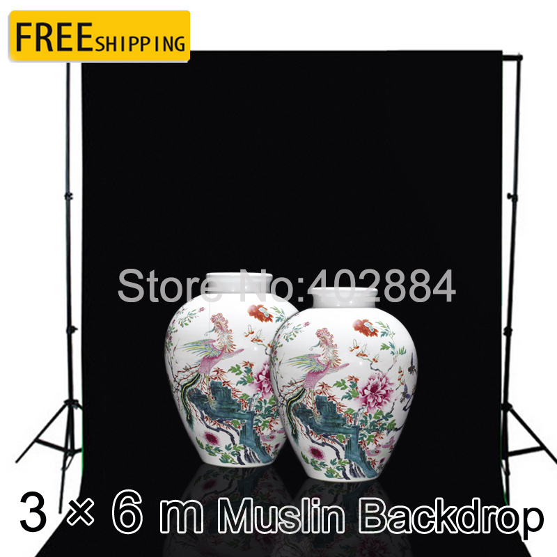 Free Tax To Russia New Photographic Equipment Diamond Cloth Background Backdrop New - 3*6m muslin background cloth Black free tax to russia new photographic equipment diamond cloth background backdrop new 3 6m muslin background cloth black