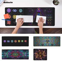 Babaite Top Quality Fractal Stock Chakra Symbols  Laptop Computer Mousepad Free Shipping Large Mouse Pad Keyboards Mat