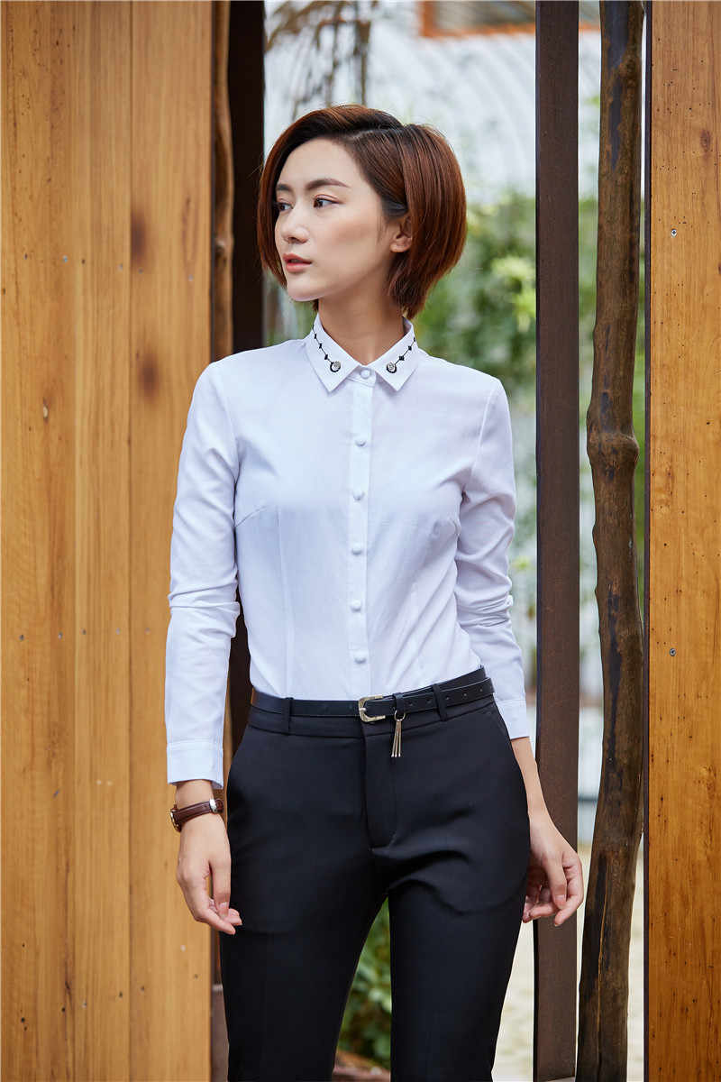 2ac50a792 ... AidenRoy Skirtsuits Women Work Wear Suits Two 2 Piece Pant Skirt Tops  Sets Ladies White Blouses ...
