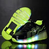 Children Roller Shoes Children Light Glowing Shoes with Wheel Kids Light Skate Shoes for Boys Sneakers men tenis infantil