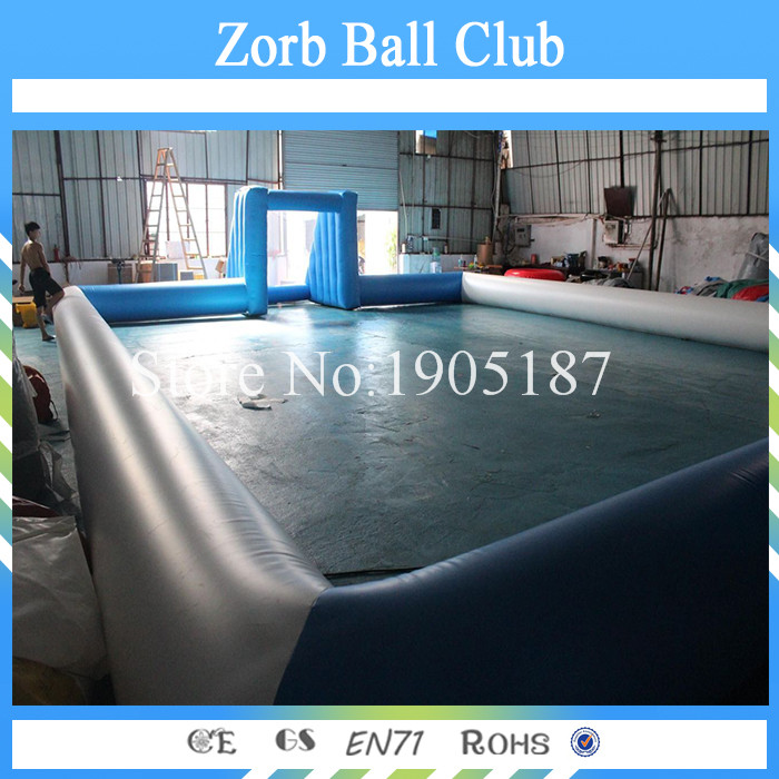 Free Shipping 16x10m Inflatable Football Field,Soccer Football Field For Sale,Inflatable Soap Soccer Court cheap portable small inflatable water soccer football field for kids