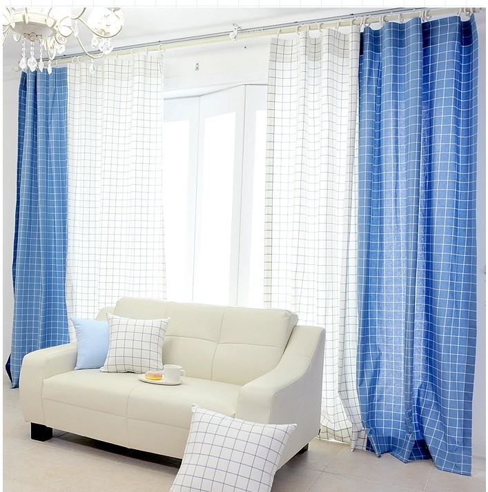 Latest Curtain Designs Blue And White Printed Fabric Windows For Curtain  Screening Room Divider Curtain Panel Wholesale In China In Curtains From  Home ...