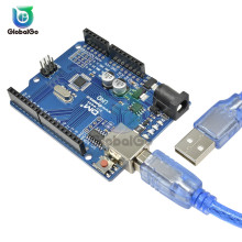 UNO R3 Development Board ATmega328P CH340 CH340G For Arduino UNO R3 With Type B USB Cable стоимость