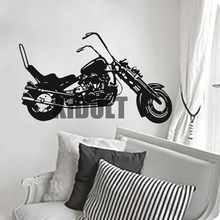 Harley Davidson Wall Sticker Creative Home Interior Wall Bedroom Studio Flat Bar Club Backdrop Decorative Vinyl Wall Decals
