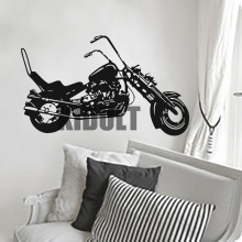 Harley Davidson Wall Sticker Creative Home Interior Wall Bedroom Studio  Flat Bar Club Backdrop Decorative Vinyl Wall Decals Part 72