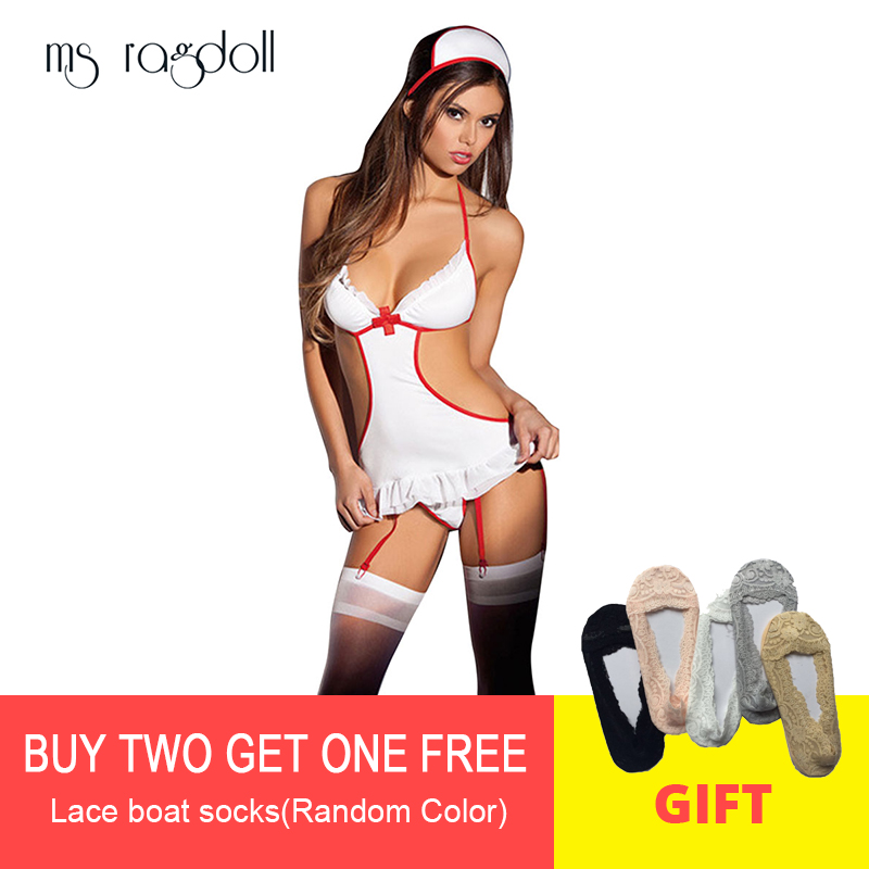 2018Women Sexy Lingerie Hot Erotic Costumes Role Play Nurse Uniform Erotic Lingerie Sex Products Underwear (Not Including Socks)