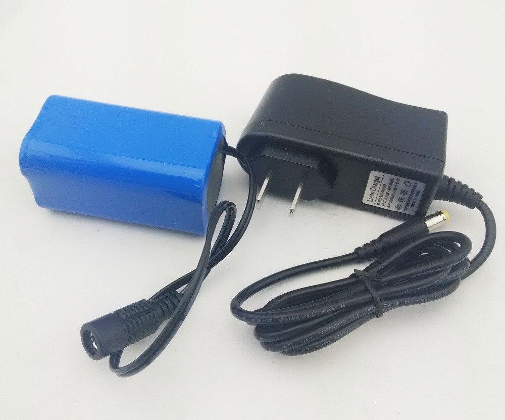 Liitokala 8.4 v 6400 mah batterie pack ceinture vélo phares batterie + chargeur + shoping libre