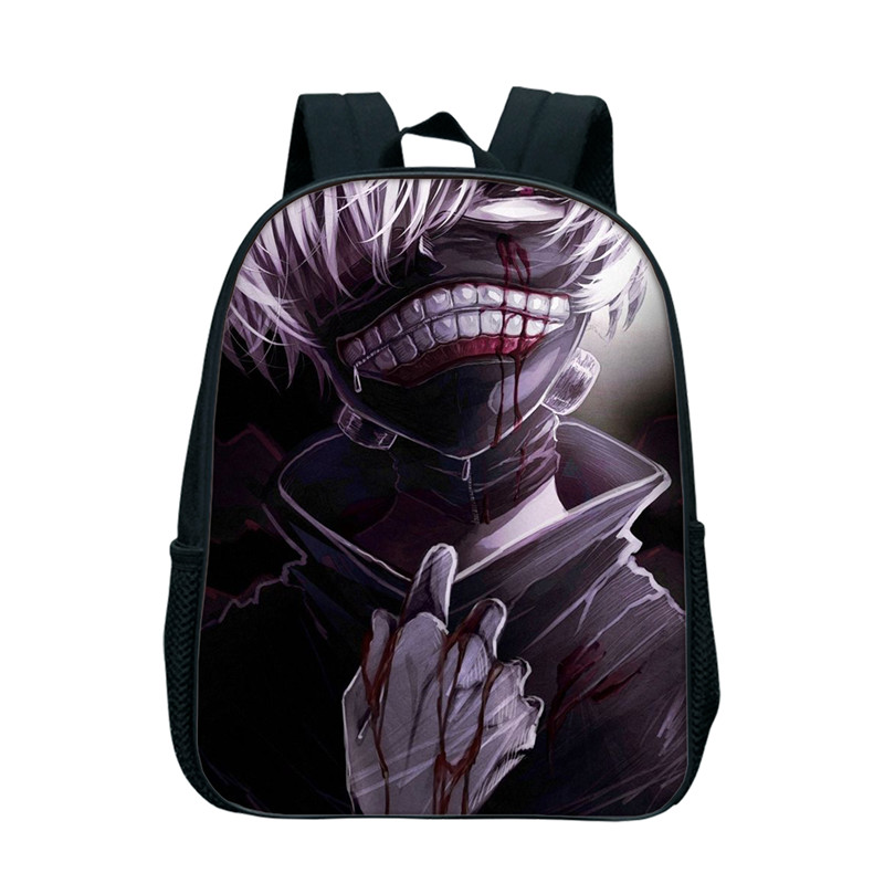 12 Inch Bags Anime Tokyo Ghoul Backpacks For Children Kids Cartoon Shoulder Bag School Boys Girls Custom Bags Drop Shipping