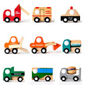 1pcs Fashion Mini Vehicle Car Wooden Educational Toys truck train model For Baby Kid Children Gift
