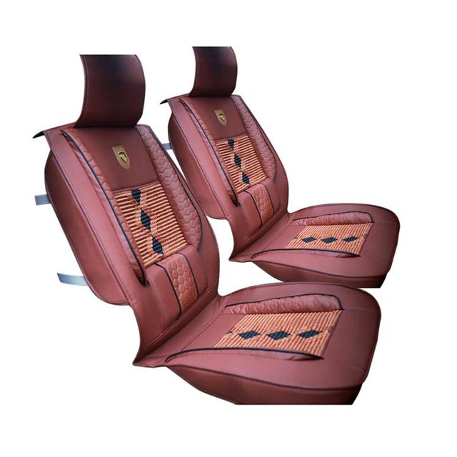VORCOOL 1Pcs Auto Car Front Seat Protector Cover Universal Fit Breathable High Grade Leather Ice Silk
