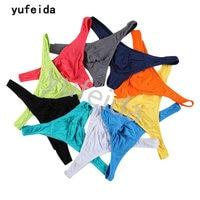 YUFEIDA Niespodzianka Cena Mężczyzna G String Stringi Bielizna Tanga Egzotyczne Intimate Sex zabawki Produkty Jockstrap Modalne Pnia Etui 10 SZTUK