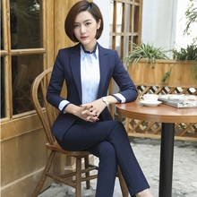 Autumn Winter Professional Formal OL Styles Blazers Ladies Office Business Work Wear Pantsuits Pants