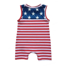 Infant baby boys girls sibling 4th of July Summer Romper Outfits