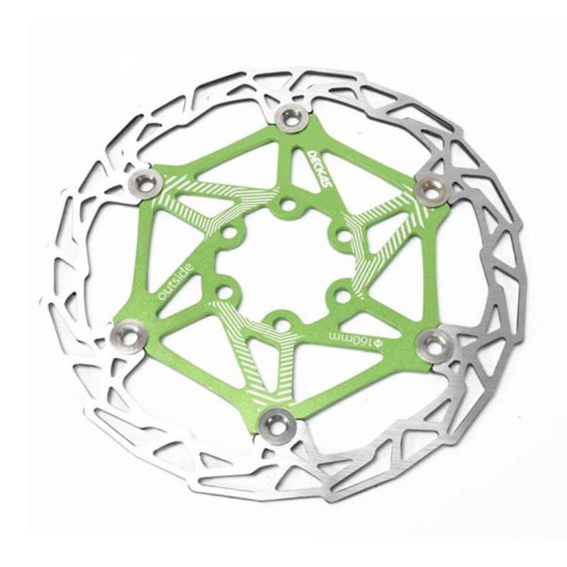 1 Uds DECKAS rotores de freno de disco de bicicleta flotantes 160mm MTB DH rotor de bicicleta 85g