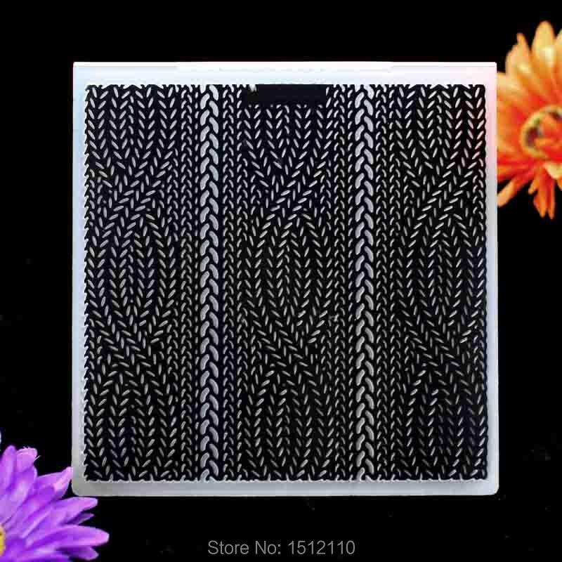 Curve Plastic Embossing Folder For Scrapbook DIY Album Card Tool Plastic Template 15.3x15.3cm KW6102024