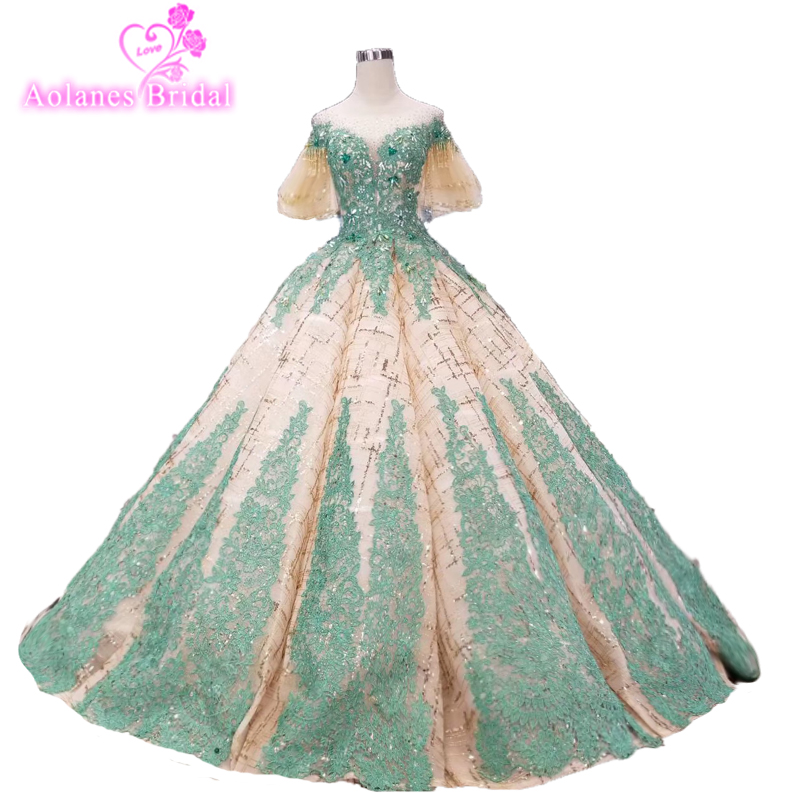 Buy emerald green applique and get free shipping on AliExpress.com 8a173b0a3428