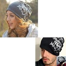 2017 Brand Women Men Hat Letter Unisex Warm Winter Knitted Fashion Caps Hip-hop Beanie Feminino Cap Bone Turban Hat WH130