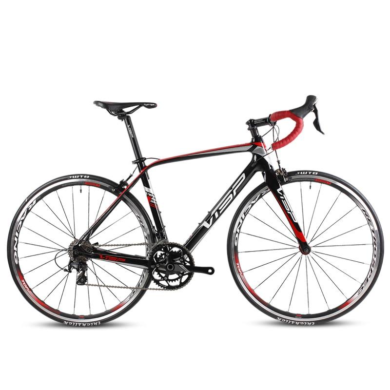 Shippng libre en fiber de carbone route vélo Shiman0 22-speed ultra-léger vitesse vélo hommes et femmes racing
