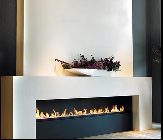 60 Inch Wifi Real Fire Intelligent Smart Ethanol Electric Fireplace Heater Insert