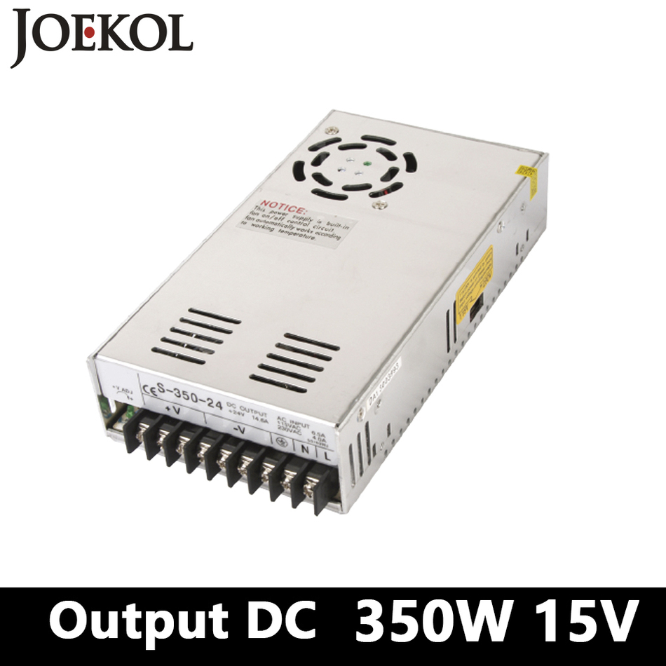switching power supply 350W 15v 23A,Single Output watt power supply for Led Strip,AC110V/220V Transformer to DC 15V trt
