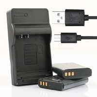 LANFULANG 2 Pack EN-EL23 EN EL23 batterie et Micro USB chargeur de batterie pour Nikon Coolpix P900, P600, P610, B700 et S810c