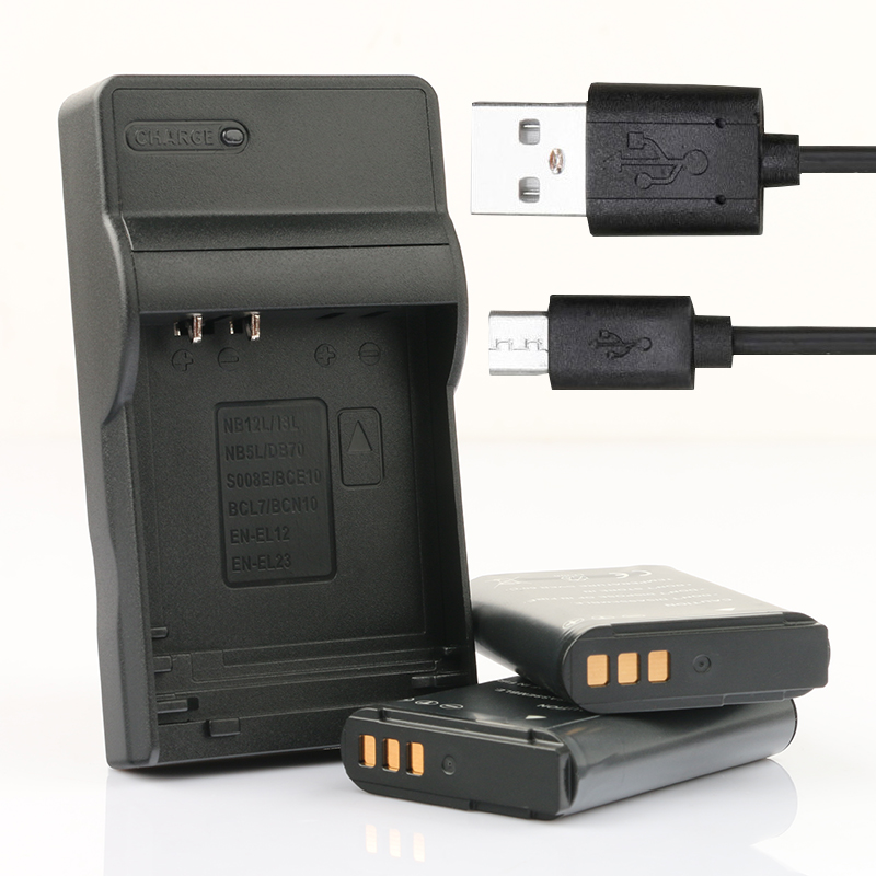 LANFULANG 2 pack EN-EL23 es EL23 batería y Micro USB cargador de batería para Nikon Coolpix P900... P600... p610... B700 y S810c