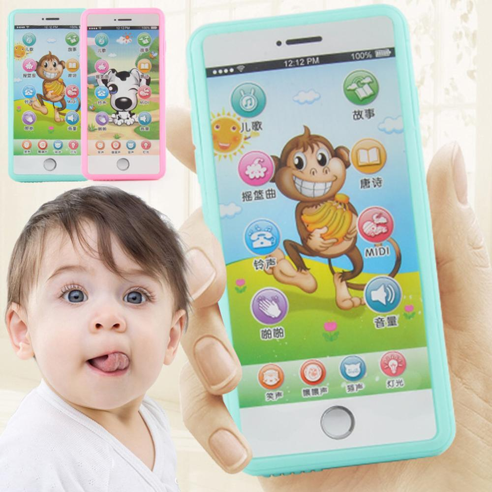 Multi-function Simulated Mobile Phone Touch Screen Music Story Poetry Light Kids Baby Toy Puzzle Early Education Machine