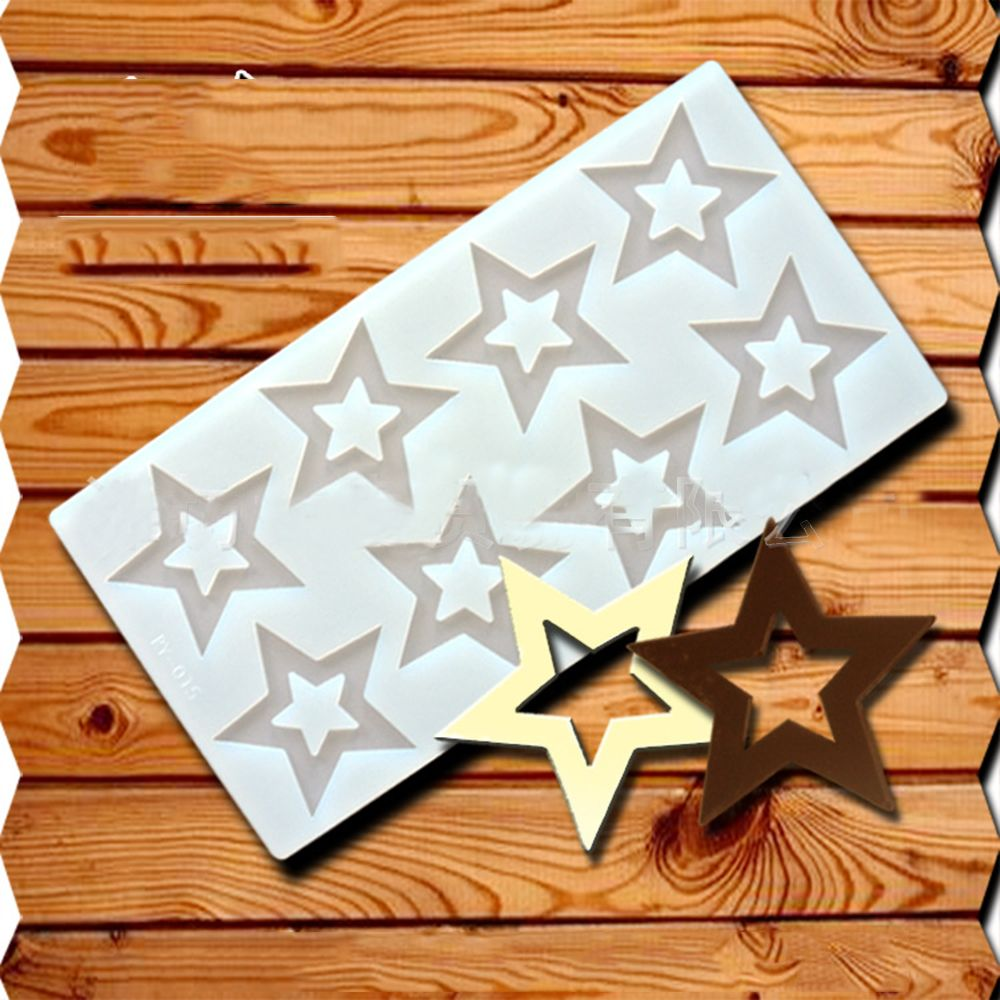 3D Star Shape Silicone Baking Mold Easy To Use For Muffin And Candy Mold