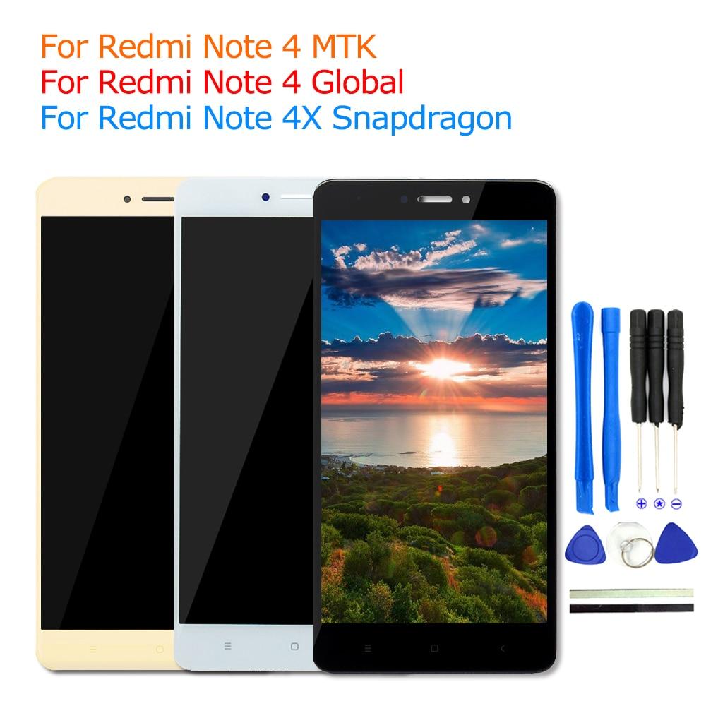 2017 Nuovo Per Xiaomi Redmi Nota 4 LCD Display Touch Screen Parti di ricambio Per Xiaomi Redmi Note 4 Prime Pro Telefono FreeTools