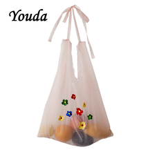 Youda 2019 New Organza Material Ladies Shoulder Bag Japanese Simple Student Handbag Cute Girl Shopping Bags Casual Style Tote