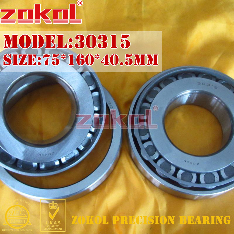 ZOKOL bearing 30315 7315E Tapered Roller Bearing 75*160*40.5mm zokol bearing 32915 2007915e tapered roller bearing 75 105 20mm