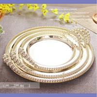 25 cm/30 cm/35 cm hochzeit dekoration stahl schalen mit griffen silber kuchen display pan kuchen pan metall silber serviertablett SG097