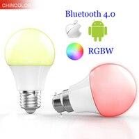 Inteligentne Bluetooth 4.0 żarówki Led multi color E27 lub B22 bazy 4.5 W RGBW Ściemniania inteligentne oświetlenie spot lamp dla ISO Android VR