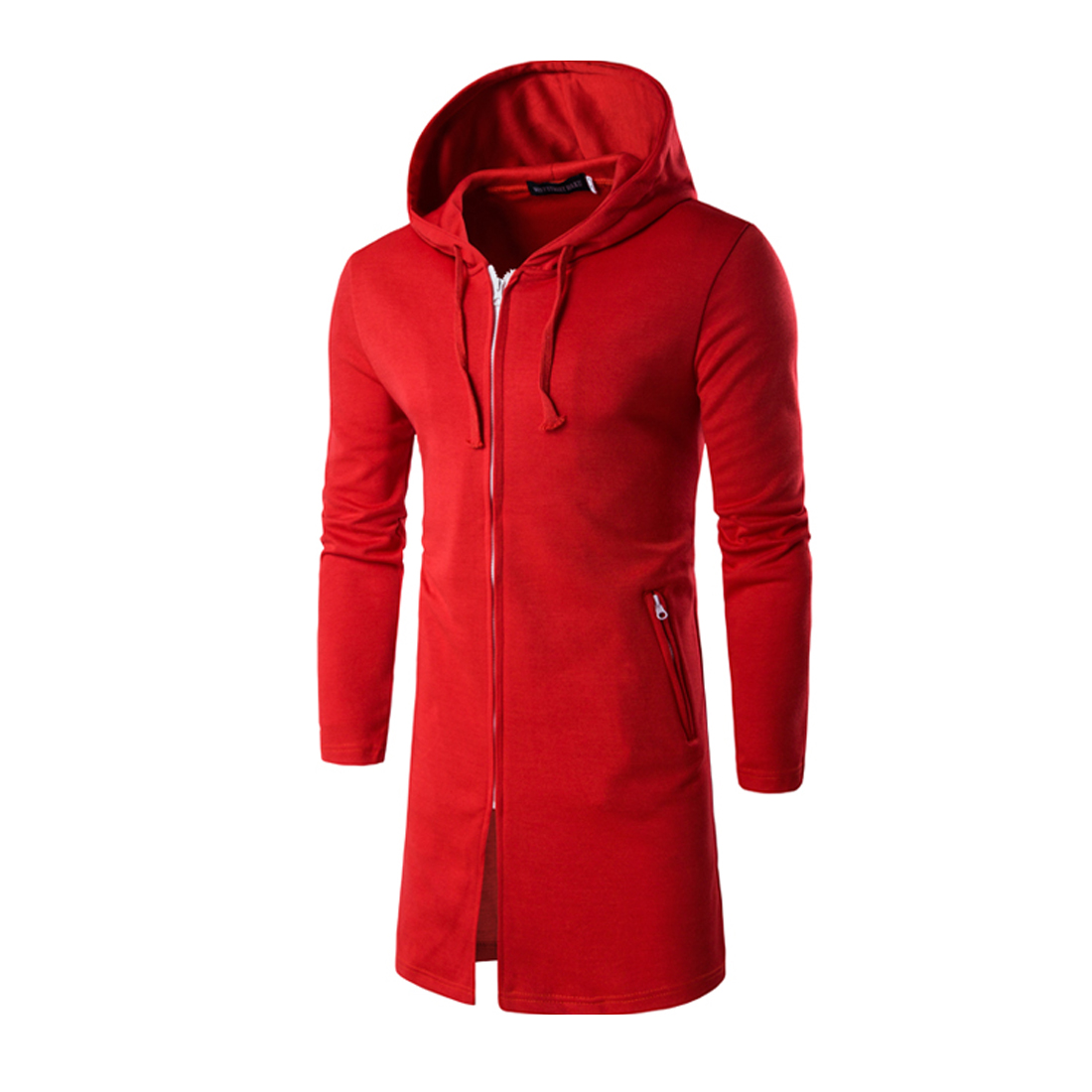 Long Red Hoodie - Hardon Clothes