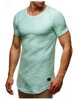 Короткие Футболка с рукавами мужские хлопок сплошной цвет Круглый воротник с короткими рукавами летняя рубашка белый джемпер прилив одежд