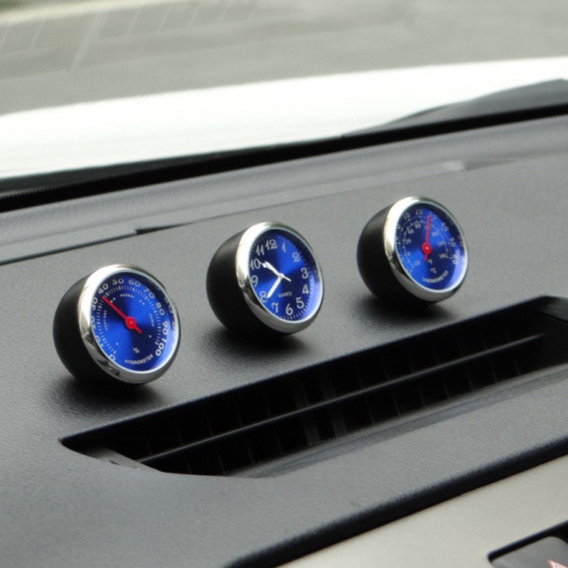 Car Thermometer Hygrometer Material Car Clock Car Electronic Watch Car Air Conditioning Outlet Perfume Ornaments