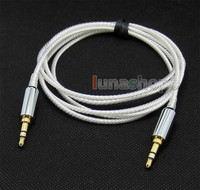 Pure Silver Plated 3 5mm Male Headphone Cable For Sony Mdr 10r Mdr 10rc MDR 10R