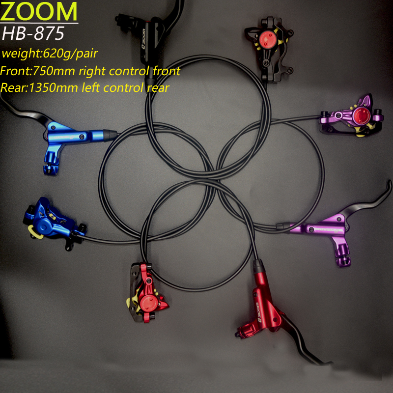все цены на ZOOM Brake bicycle bike mtb Hydraulic Disc brake set clamp mountain bike Brake Update онлайн